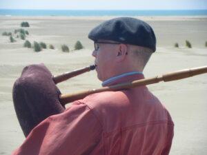 Dudelsack am Strand