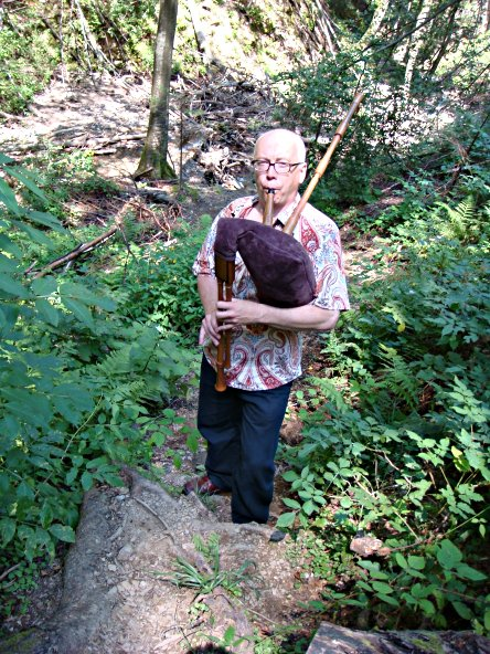 Sackpfeife im Wald