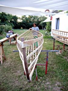 Wie ein Boot entsteht