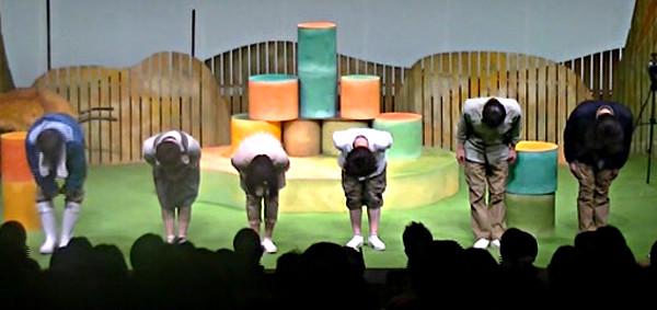 Schauspieler und Schauspielerinnen des Theaters Nakama in Tokyo