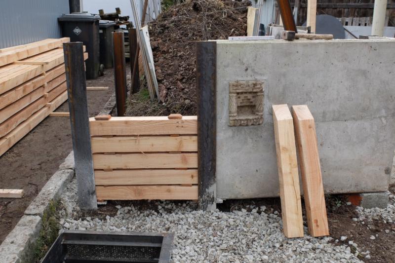 Hochbeet Bau aus Recycelingteilen