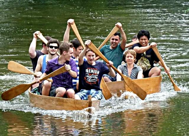 Lake Caddo Boote im Einsatz