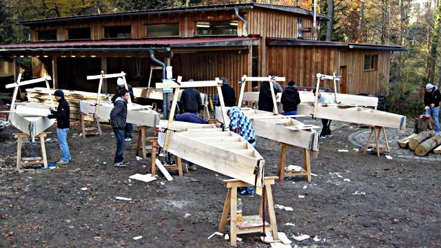 Baustelle für Lake Caddo Boote
