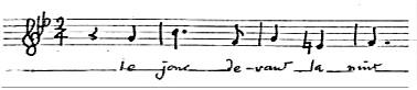 Noten Kanons von Antoine Geoffroy-Dechaume
