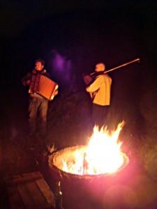 Lagerfeuermusik am Fuchshaus