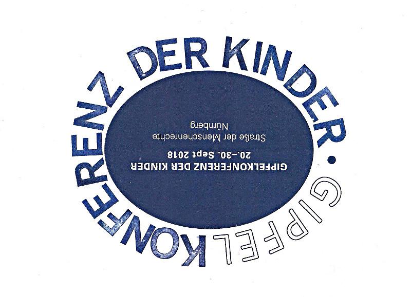 Gipfelkonferenz der Kinder 2018 Nünberg