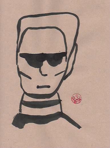 Karl Lagerfeld von Nikkolo Feuermacher