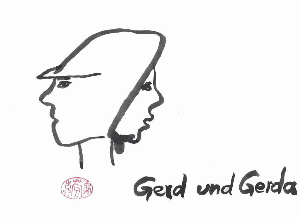 Gerd und Gerda gepinselt